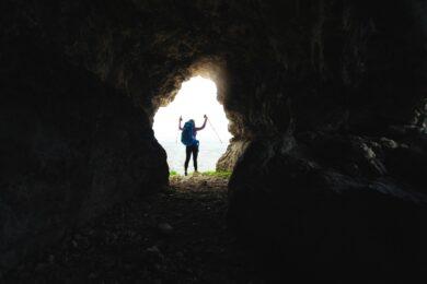 esportes em cavernas